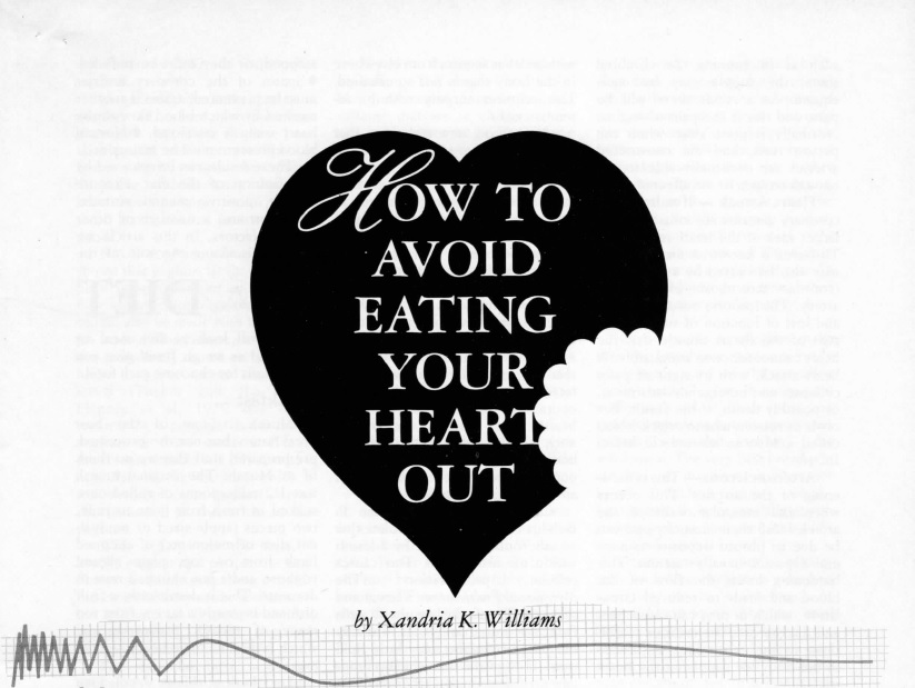 WB. How to avoid eating your heart out